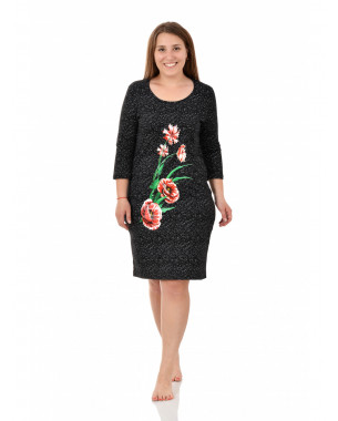 Платье женское М-235(Г) ,кулирка , р.(48-58)