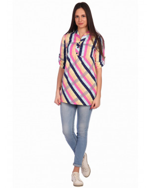 Рубашка женская Т0081(Г) ,кулирка , р.(44-58)