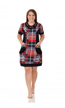 Платье женское  М0111-3 , кулирка , р.(46-60)