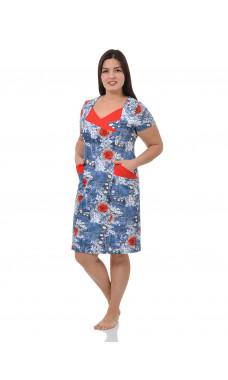 Платье М0118 (Г) (р.46-56),кулирка