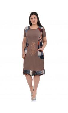 Платье П-09 ,кулирка, (р.46-58)