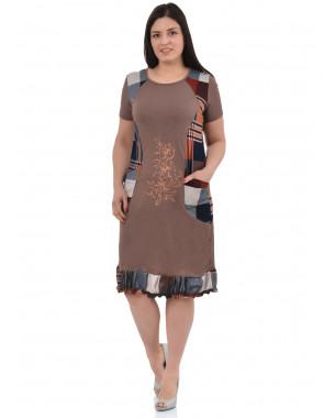 Платье ПГ-010 ,кулирка, (р.60-64)