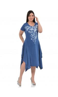Платье П-011 ,кулирка, (р.46-60)