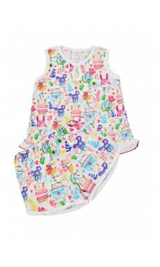 Пижама для девочек,майка+шорты, р.(110-158)