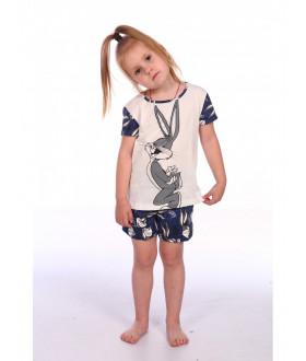 """Пижама для девочек """" Кролик """",кулирка,р(110-134)"""
